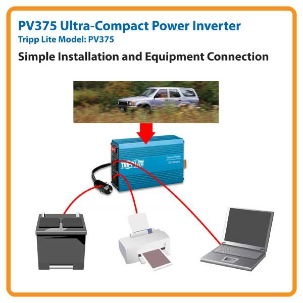 Amazon Com  Tripp Lite Pv375 Portable Auto Inverter 375w