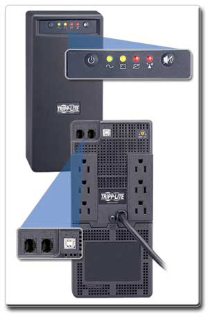 SMART750USB Tel/Ethernet Surge Suppression and LEDs