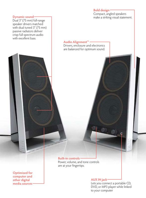 Amazon Com Altec Lansing Vs2620 Speakers For Computers