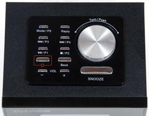 Control panel of the Grace Digital Allegro GDI-IRD4000 Wi-Fi Radio