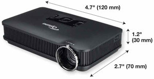 Pk301 with dimensions for Best pocket size projector