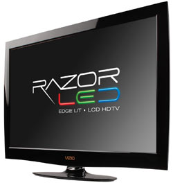 Front view of the VIZIO M370NV 37-inch RazorLED LCD HDTV