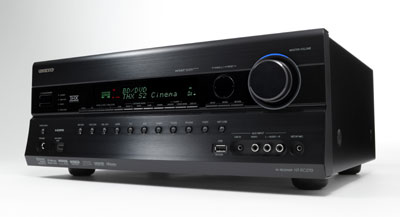 Angled front view of the Onkyo HT-RC270 7.2-Channel Network A/V Receiver