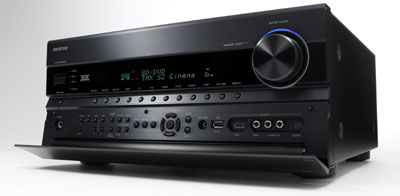 Onkyo TX-NR808 7.2-Channel Network A/V Receiver side view with access panel open