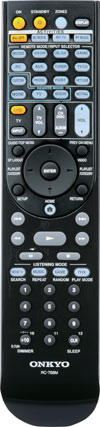 RI remote controller included with the Onkyo TXNR808 7.2-Channel Network A/V Receiver