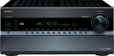 Front view of the Onkyo TXNR808 7.2-Channel Network A/V Receiver