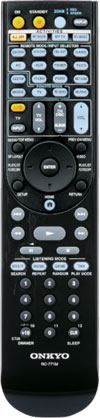 RI remote controller included with the Onkyo TX-NR1008 9.2-Channel Network A/V Receiver