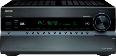 Front view of the Onkyo TX-NR1008 9.2-Channel Network A/V Receiver