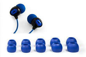 The Surge 2G Waterproof Sport Headphones come with five Earplugs providing a personalized Fit