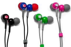 The Flex All Sport Waterproof Headphones comes in Onxy Black, Super Hero Blue, Envy Green and Power Pink
