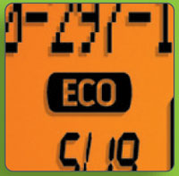 This is a picture of the eco mode logo