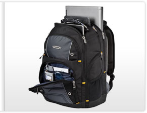 inside Targus Drifter II Backpack Designed for 17-Inch Laptop TSB239US