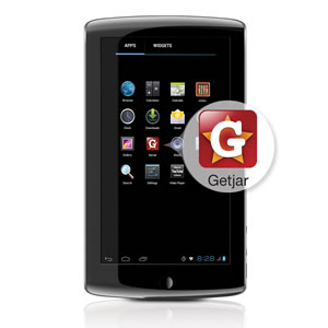 Coby KYROS MID7034-4 Tablet: Access to free apps with GetJar app store