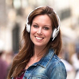 OE2 headphones are lightweight and comfortable for hours of on-the-go listening.