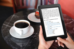 E-Reader comes pre-installed to provide instant access to a full library of books