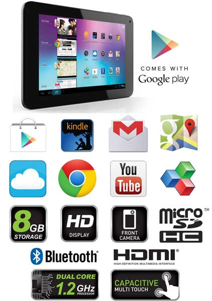 Google Play on the Coby MID7065-8 Tablet