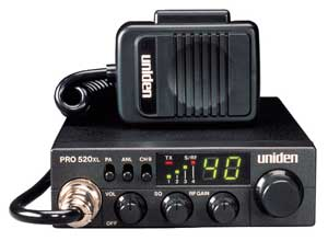 Uniden PRO520XL with standard features and compact size. Get your uniden pro520xl 40 channel cb radio