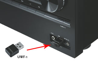 UWF-1 connects to the USB port