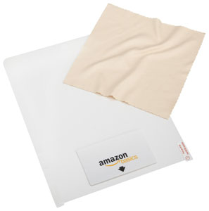 The AmazonBasics Screen Protector and Cleaning Cloth