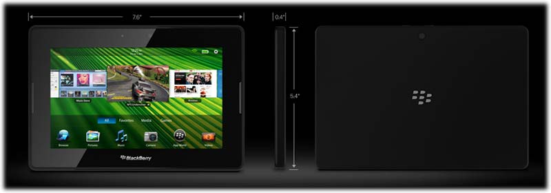 blackberry playbook size lg Blackberry Playbook 7 Inch Tablet (32GB)