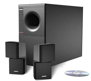 Acoustimass module and cube speakers