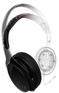 Philips O'Neill SHO9560/28 The Stretch Over-Ear Headphones (Black Bordeaux)