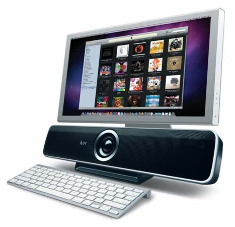iLuv iSP200 Stereo Speakers with USB Hub for PC and Laptops