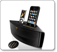 Dual-Docking System Charges and Plays iPhone and iPod