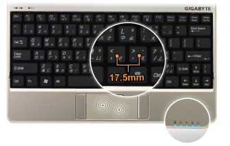 Full-Sized Keyboard / Battery Status Check / Multi-Touch Touchpad Interaction