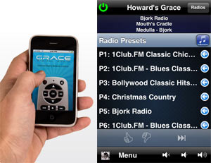 The Grace Digital Audio remote App for iPhone and iTouch explained