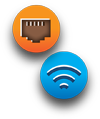 Ethernet and WiFi Icon