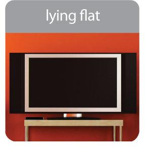 laying flat