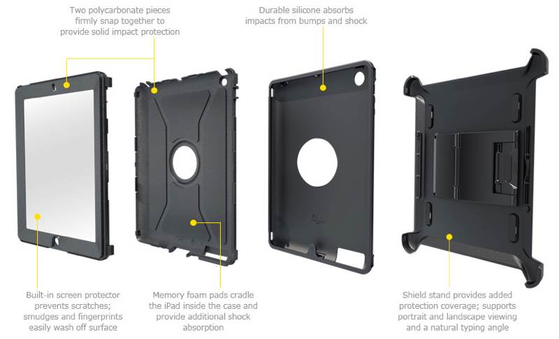otterbox defender ipad new parts lg OtterBox Defender Series Case with Screen Protector and Stand for the New iPad