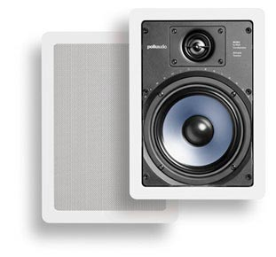 Polk Audio RC65i in-wall speakers in white