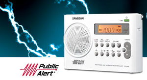 The Sangean PR-D9W Weather Alert Radio