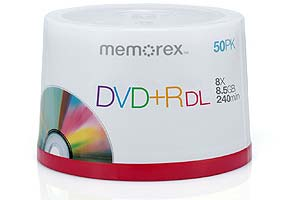 Memorex 8.5GB 8X Double Layer DVD+R