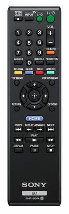 Sony BDP-S370 Blu-ray Disc Player remote