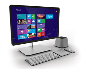 VIZIO 24 inch All-In-One PC left view