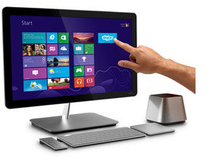 VIZIO 24 inch All-In-One Touch PC left view