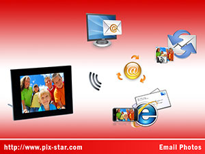 Pix-Star PXT410WR01 Digital Photo Frame
