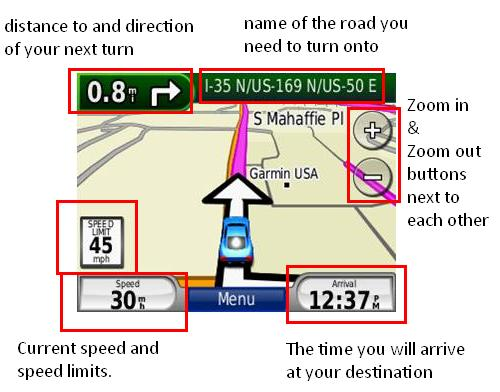 nuvi 2x5 ui annotated Garmin nüvi 265W/265WT 4.3 Inch Bluetooth Portable GPS