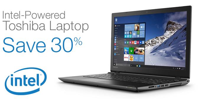 Save 30% on this Intel-Powered Toshiba Laptop