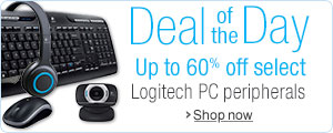 Up to 60% select Logitech PC peripherals