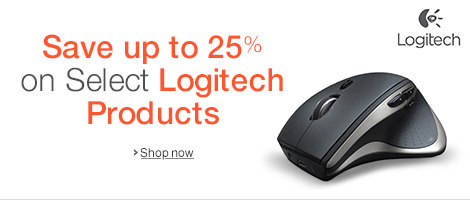 Save up to 25% on Select Logitech Products