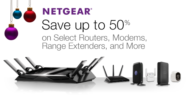 Save up to 50% on Select Routers, Modems, Range Extenders, and More