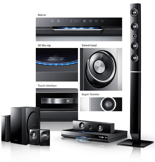 samsung ht d6730w 7 1 1330 watt 3d blu ray channel home theater system ebay. Black Bedroom Furniture Sets. Home Design Ideas