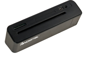 The PhotoLink Scanner scans to your flash memory card or your pc