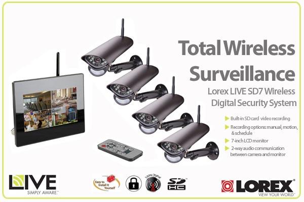 Lorex LIVE SD7 Wireless Digital Security System - LW2704B