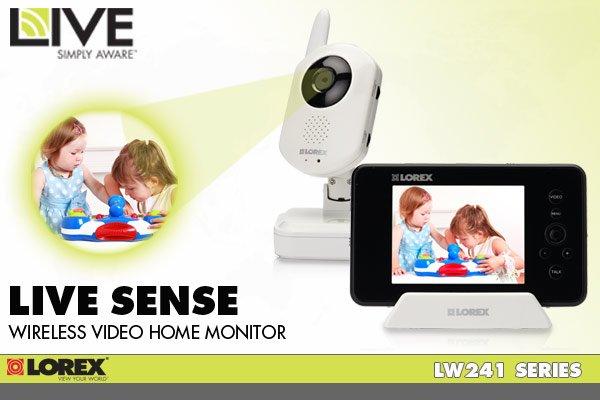 Lorex LIVE sense Wireless Video Home Monitor - LW241