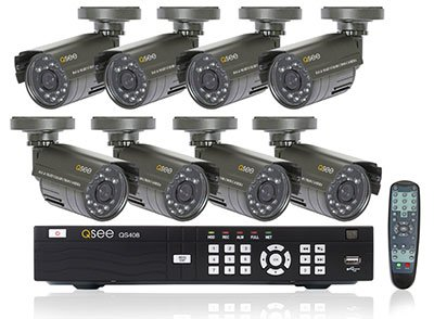 Digital Peripheral Solutions Q-See QS408-811-5 8 Channel H.264 DVR with 8 Indoor/Outdoor Cameras with 500 GB Hard Drive
